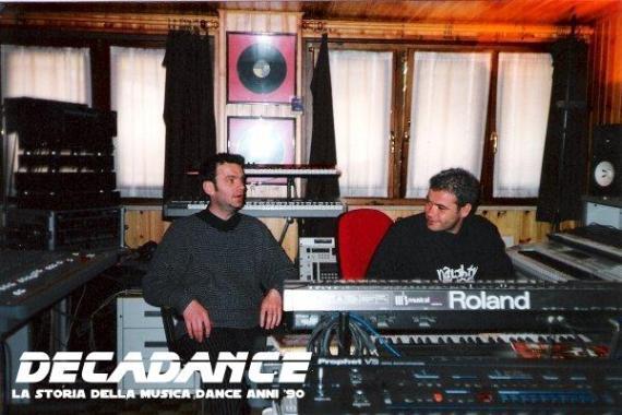 Christian Piccinelli e Tiziano Giupponi in studio (1996)